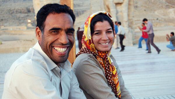 Locals smiling, Iran