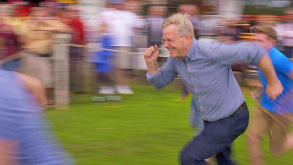 Rick running in the Highland Games, Scottish Highlands, Scotland