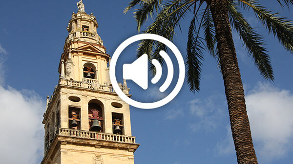 View of the Mezquita bell tower, Córdoba, Spain