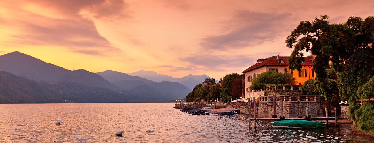 Sunset at Lake Orta, Italy