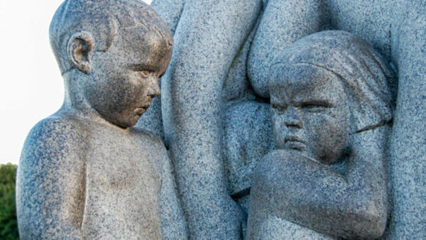 A sculture by Vigeland in Oslo, Norway