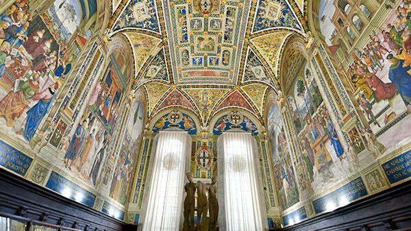 The interior of the Duomo in Siena, Italy