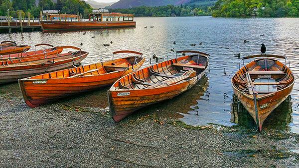 Canoes in Derwentwater