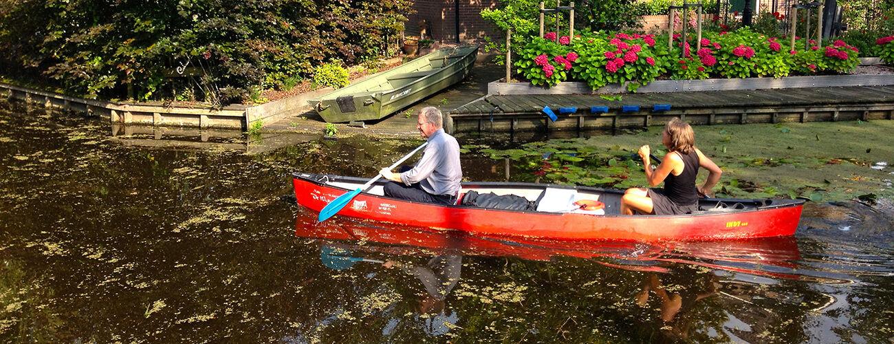 rick canoeing netherlands