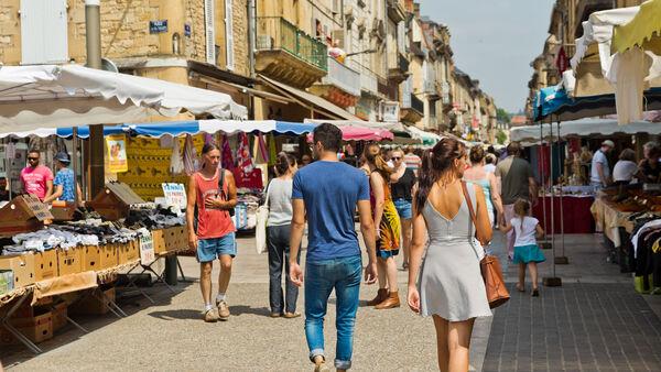 Market day, Sarlat-la-Canéda, France