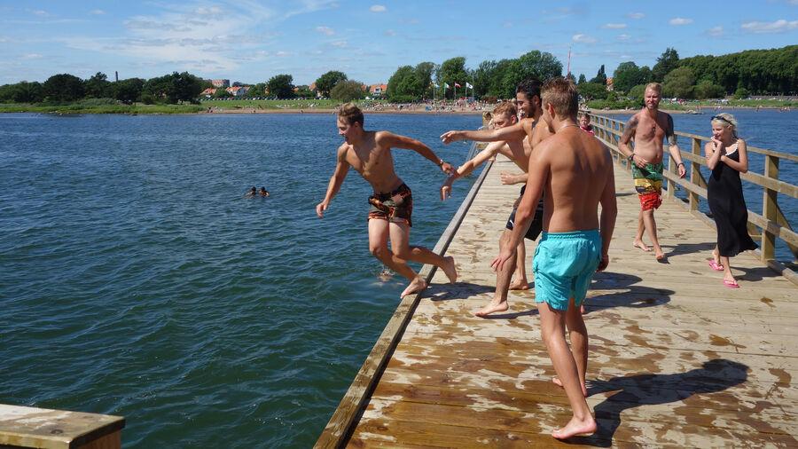 Swimming in Kalmar, Sweden