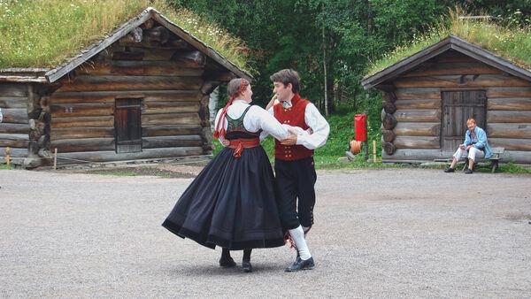 Dancers at Norwegian Folk Museum, Oslo, Norway