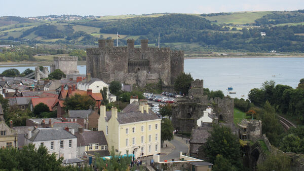 Conwy Castle and town, Wales