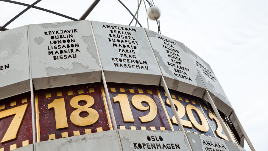 World Time Clock on Alexanderplatz, Berlin, Germany