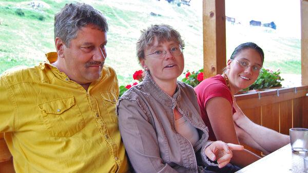 Family in Berner Oberland, Switzerland