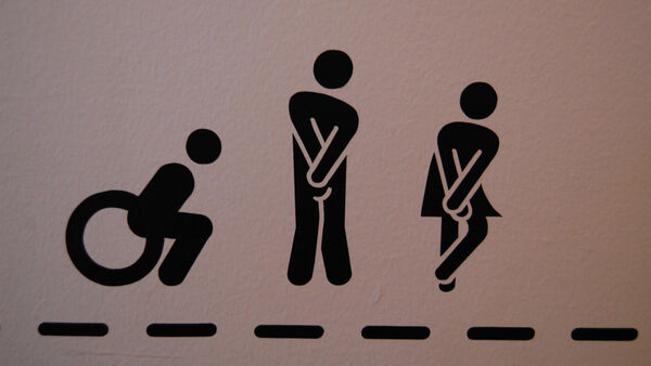 Sign for toilets in Glasgow, Scotland