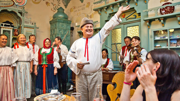 Traditional costume in Pustevny, Czech Republic