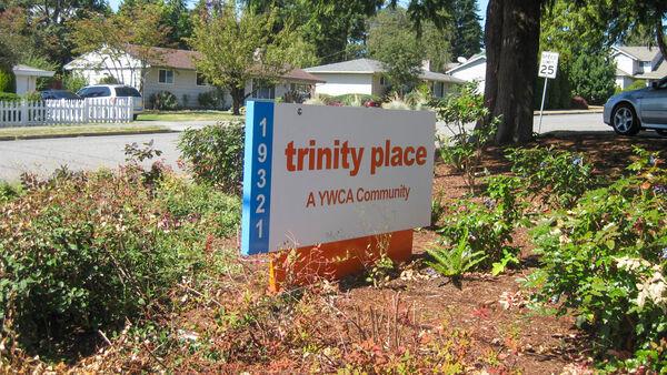 Sign for Trinity Place, Edmonds, WA