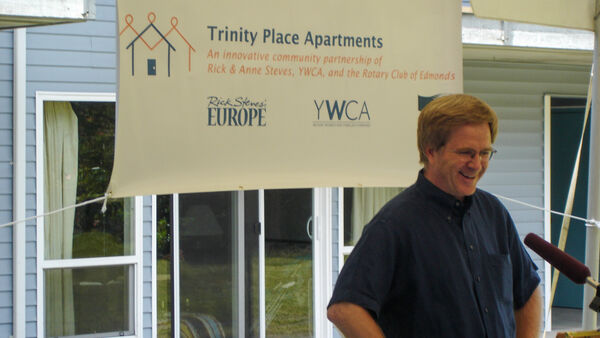 Rick speaking at Trinity Place