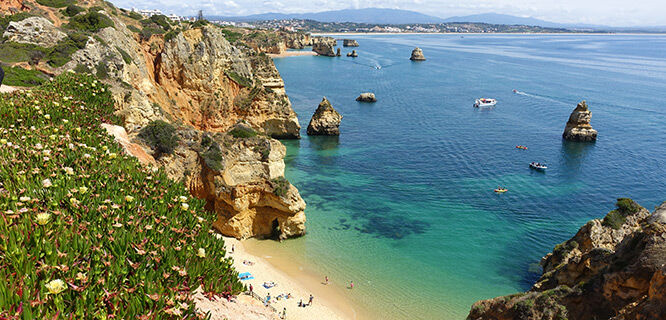 Coastline of the Algarve region, Portugal