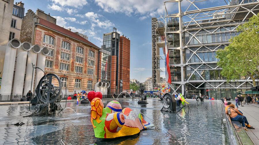 Stravinsky Fountain, Pompidou Center, Paris, France