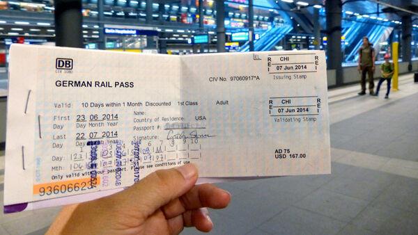 Rail pass, Berlin Hauptbahnhof, Germany