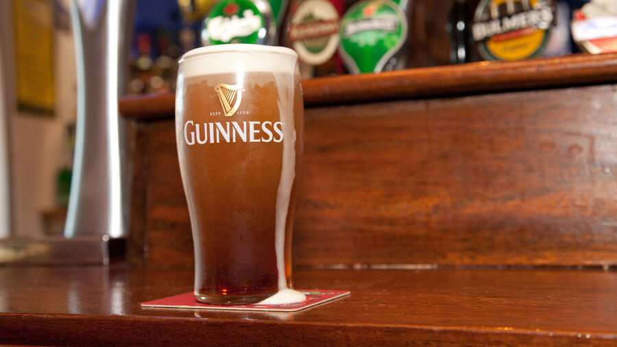 Pint of Guinness spotted in Temple Bar neighborhood, Dublin, Ireland