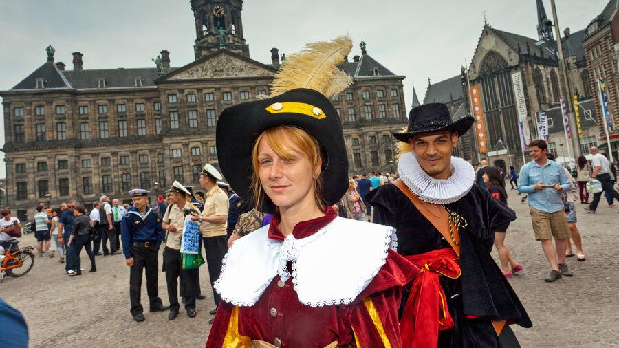Festivities on Dam Square, Amsterdam, Netherlands
