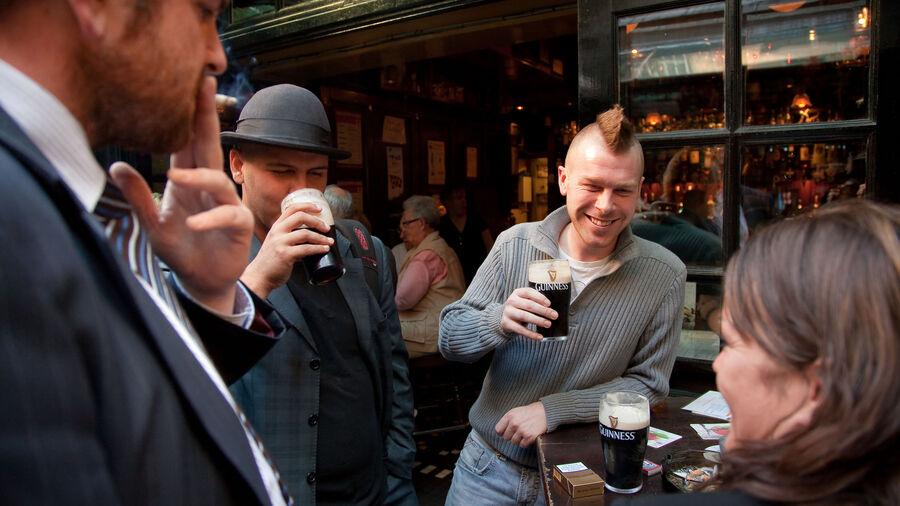 Pub in Temple Bar neighborhood, Dublin, Ireland