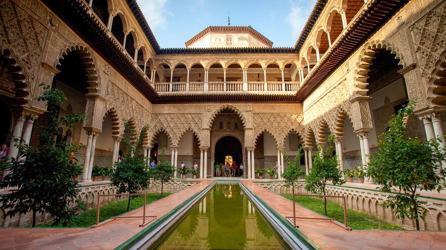 Courtyard of the Maidens, Alcázar, Sevilla, Spain