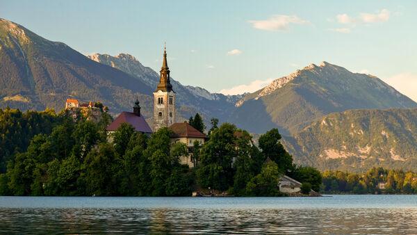 Blejski Otok and Lake Bled, Slovenia