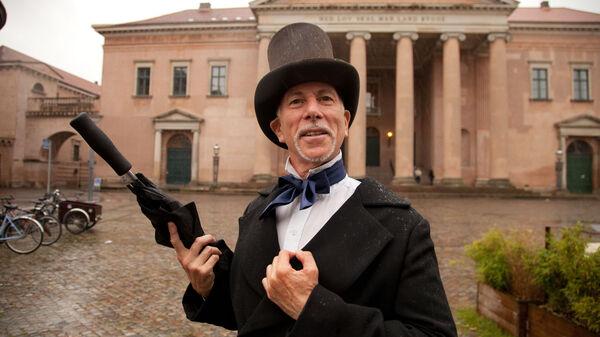 Hans Christian Andersen walking-tour guide Richard Karpen, Copenhagen, Denmark
