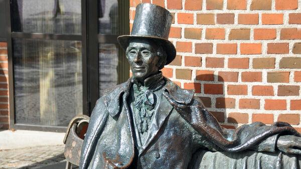 Hans Christian Andersen statue, Odense, Denmark