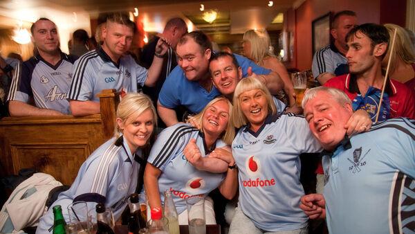 Soccer fans in a bar, Ireland