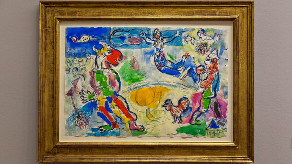 """""""Le Grand Cirque"""" painting by Marc Chagall"""