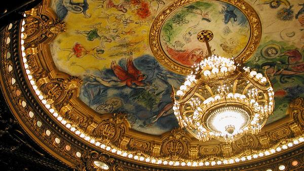 Chagall ceiling, Opéra Garnier, Paris, France