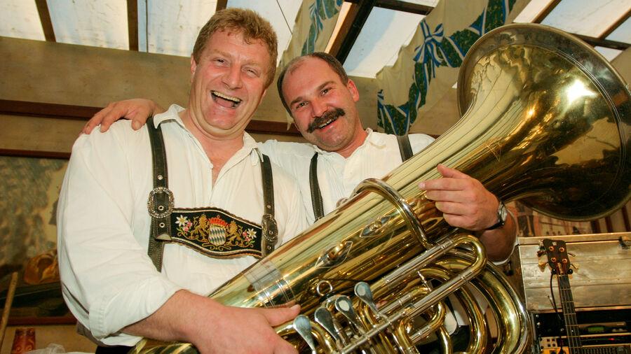 Hofbräuhaus musicians, Munich, Germany