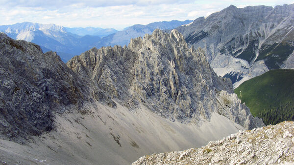 The Nordkette Alps as seen from Hafelekar, near Innsbruck