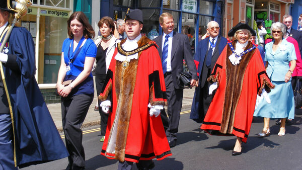 Town procession, Conwy, Wales
