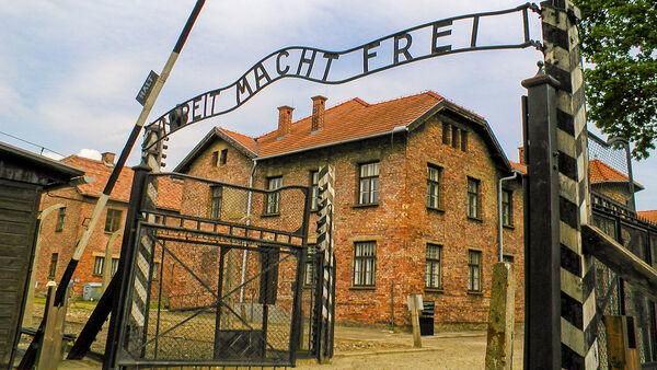 Entrance gate at Auschwitz