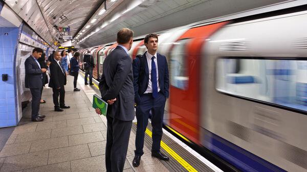 Underground tube station, London, England