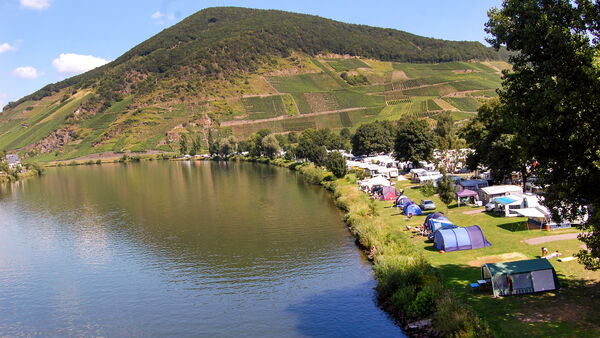 Camp sites in Mosel Valley, Germany