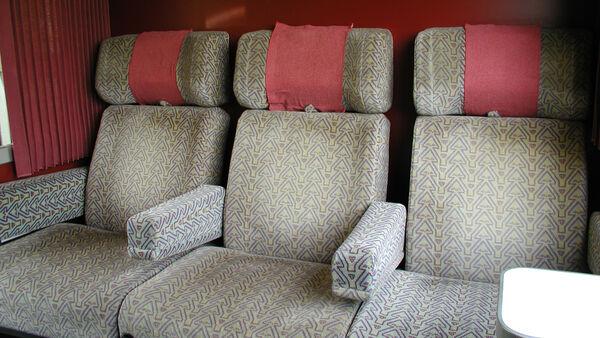 Empty seats in first class train cabin