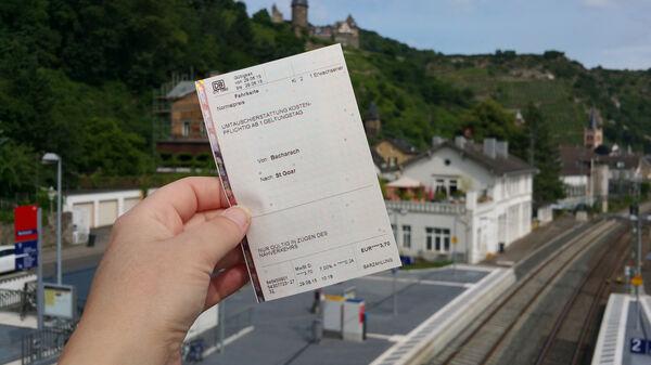 Deutsche Bahn rail ticket