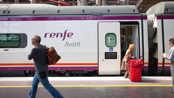 Train boarding platform, Spain