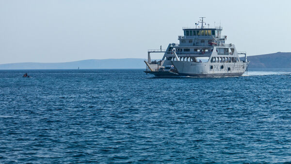 Kvarner Gulf ferry to the island of Rab, Croatia