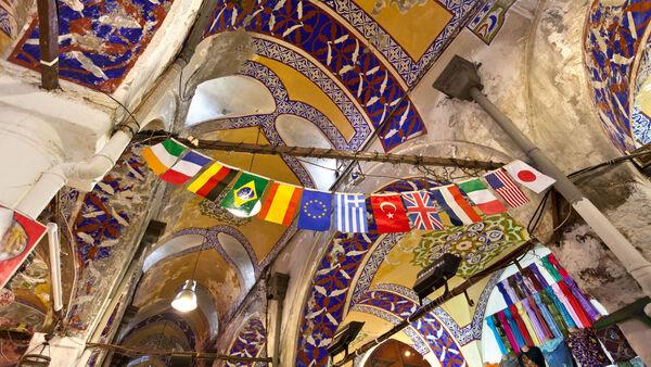 Ceiling of the Grand Bazaar, Istanbul, Turkey