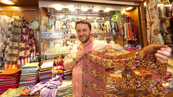 Shopkeeper, Grand Bazaar, Istanbul, Turkey