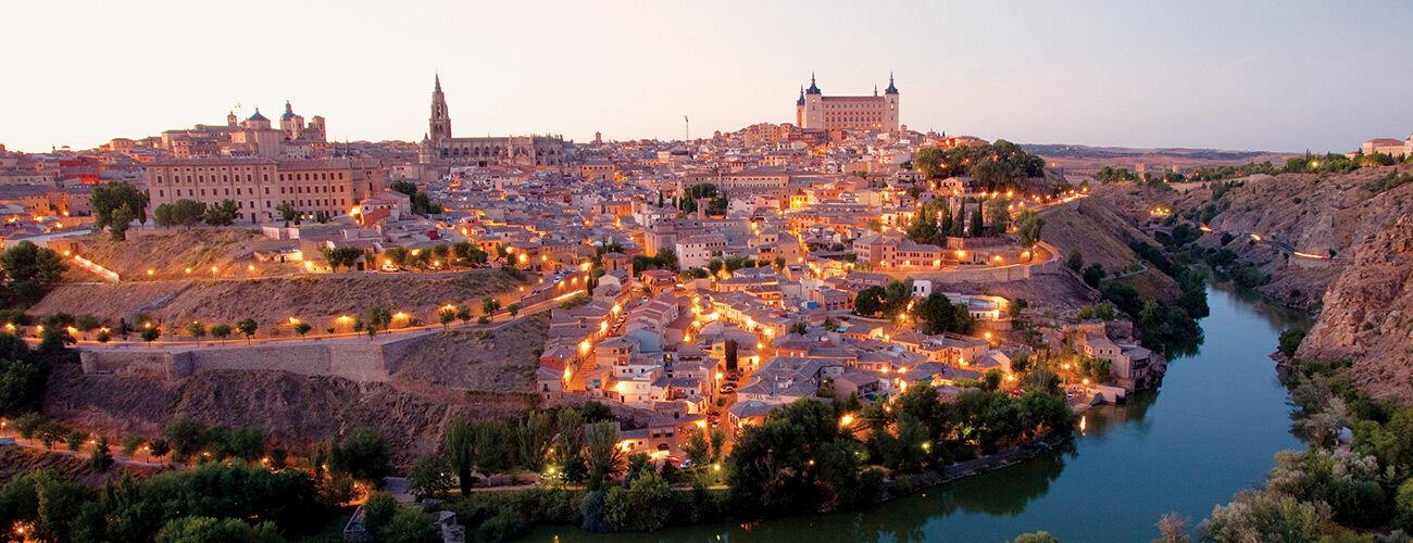 Toledo at dusk