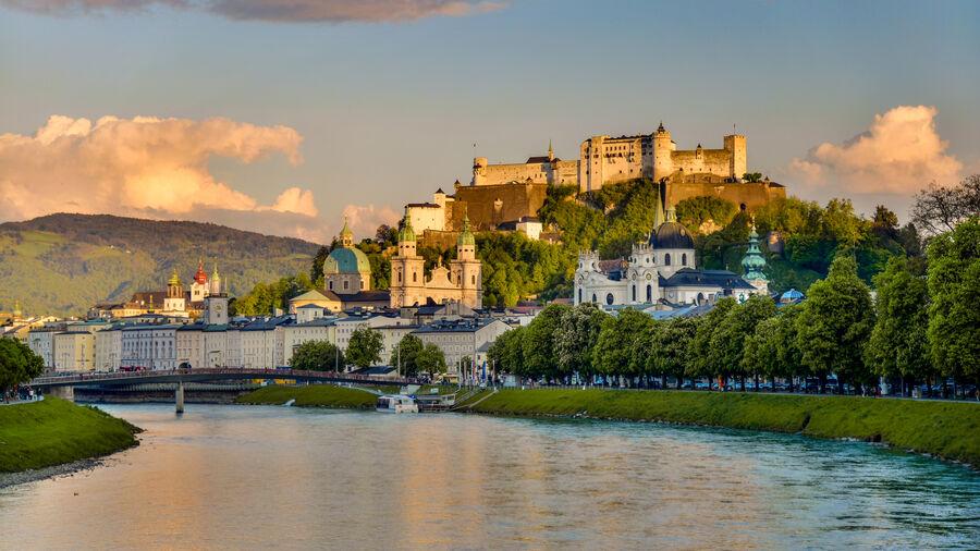 View from Mönchsberg cliffs, Salzburg