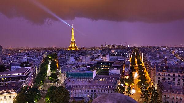 Purple Paris Panorama