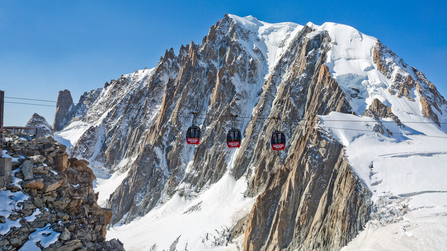 Aiguille du Midi gondolas, near Chamonix