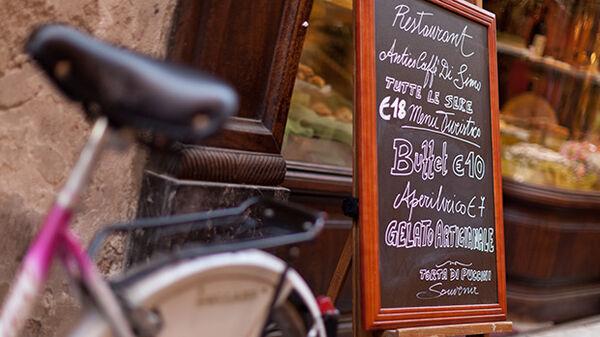 European numbers on a menu