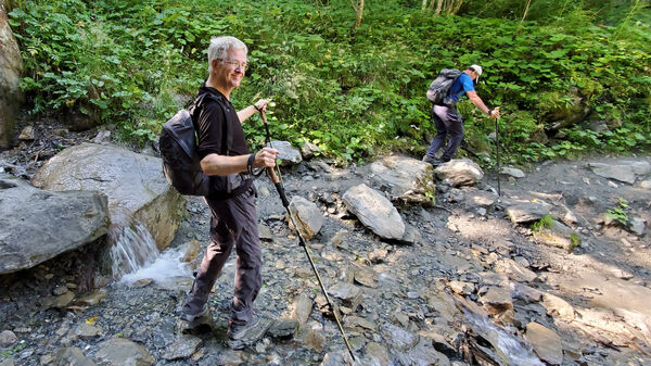 Rick hiking Mont Blanc trail
