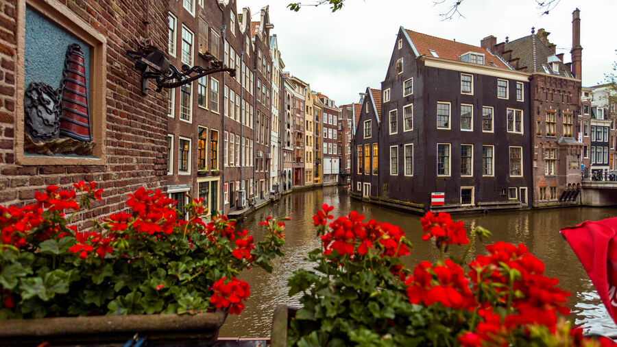 Red Light District canal, Amsterdam